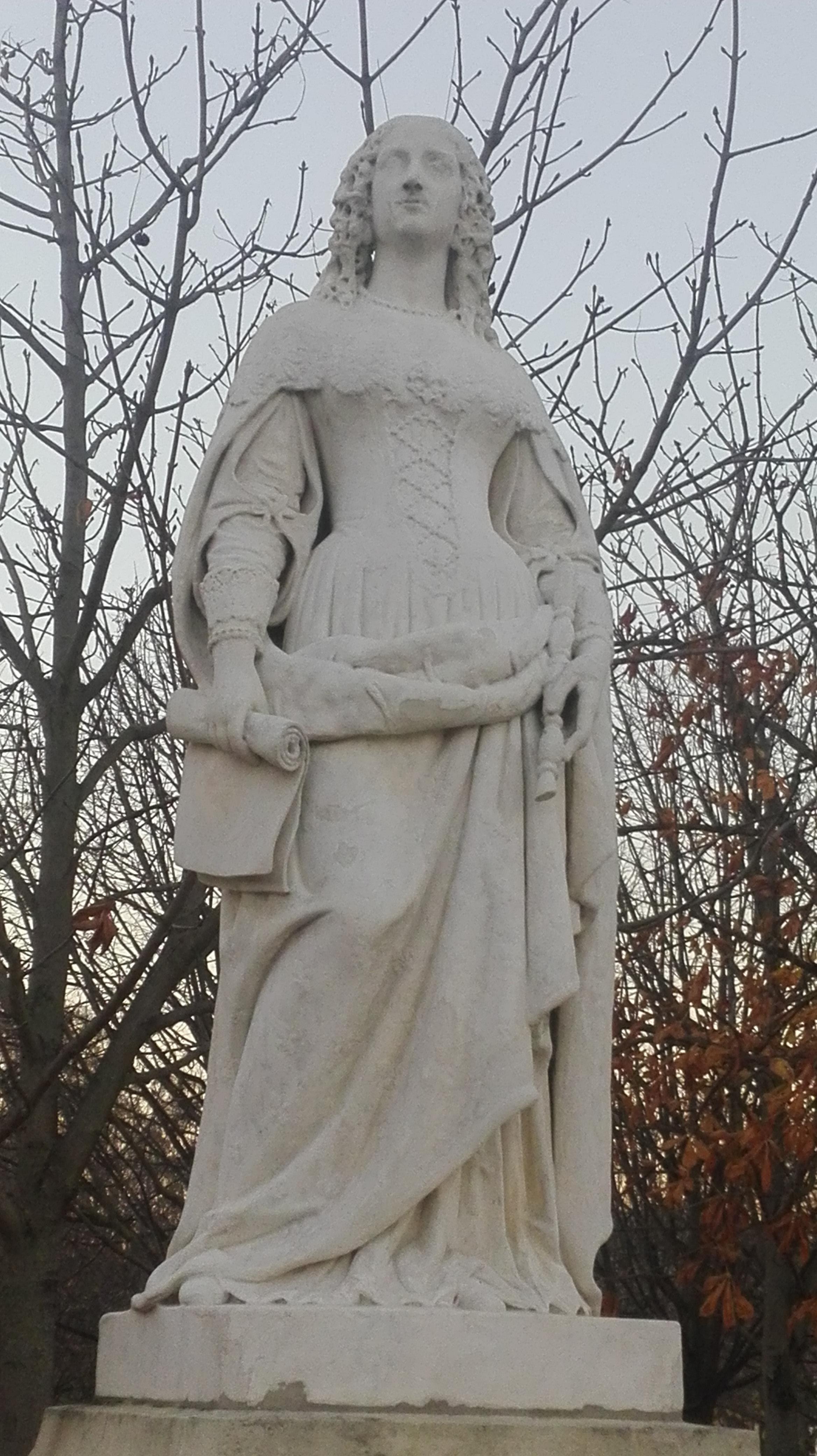 Statue Anne d'Autriche_ Jardin du Luxembourg