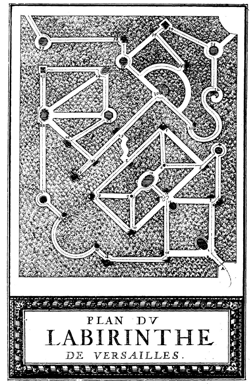 Plan du Labyrinthe de Versailles