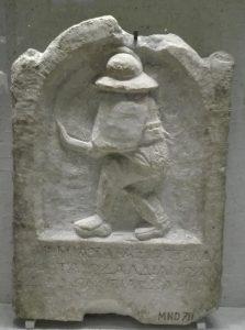 stèle gladiateur thrace