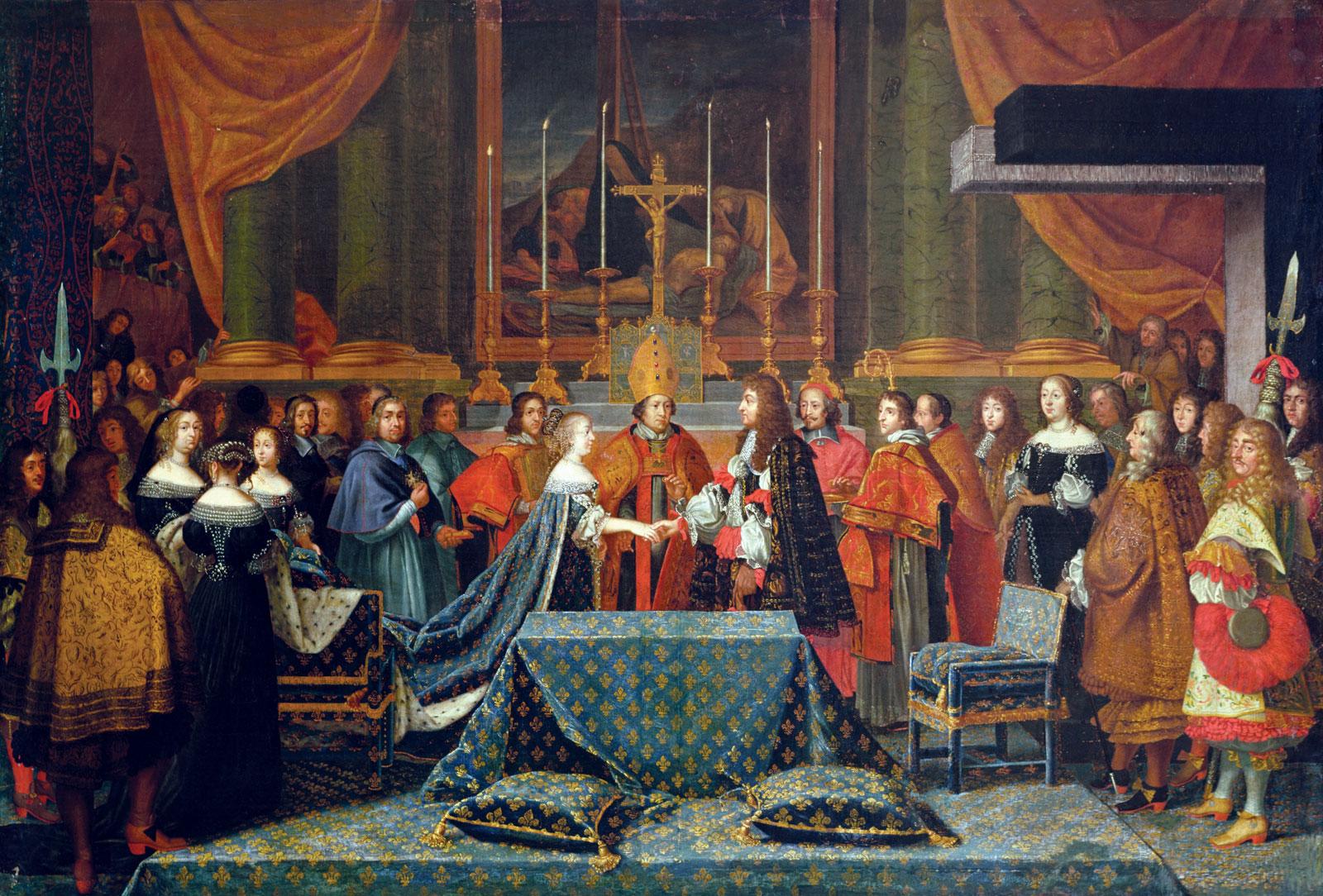 Photo du tableau du mariage de Louis XIV