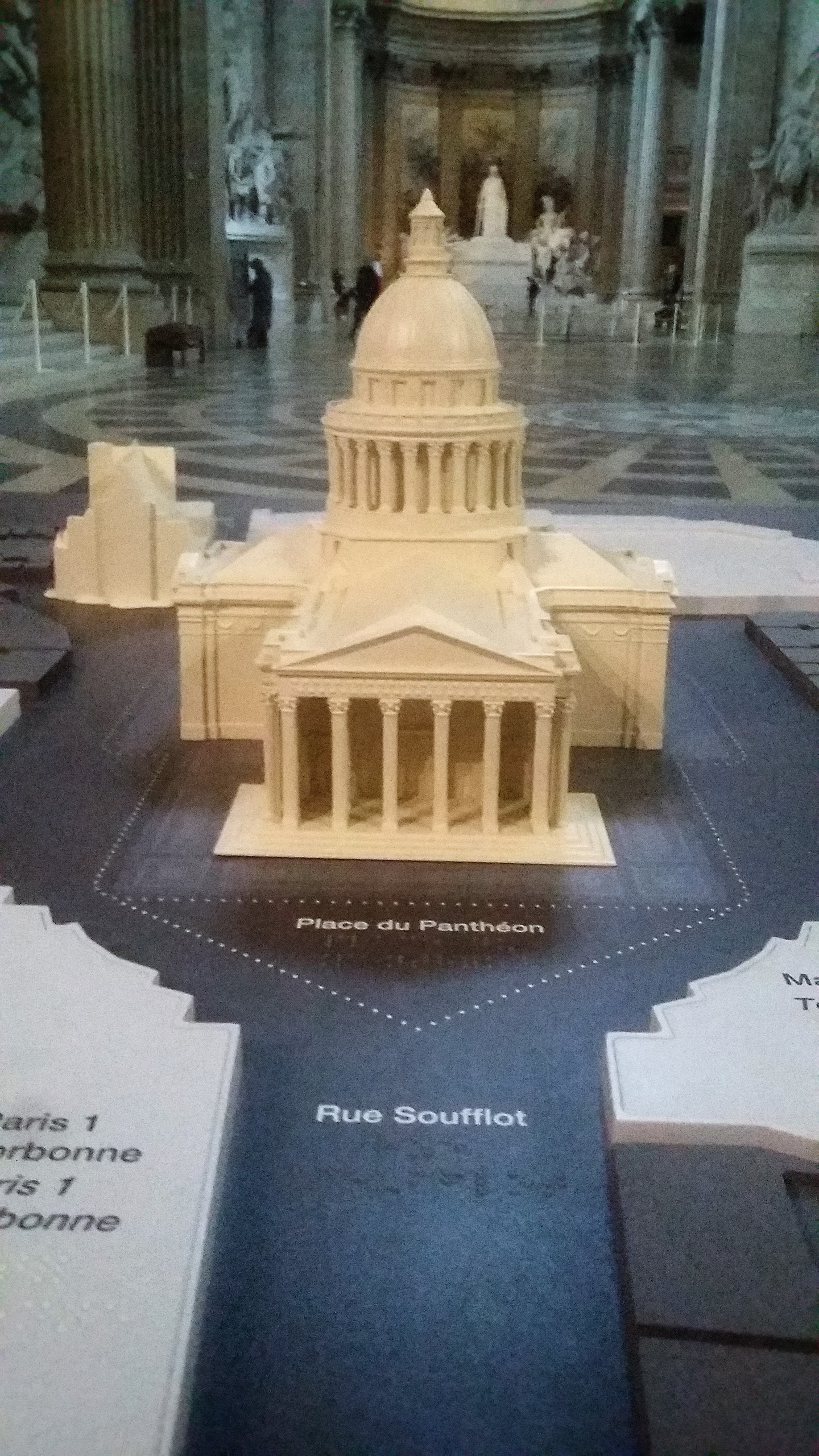 Maquette miniature du Panthéon