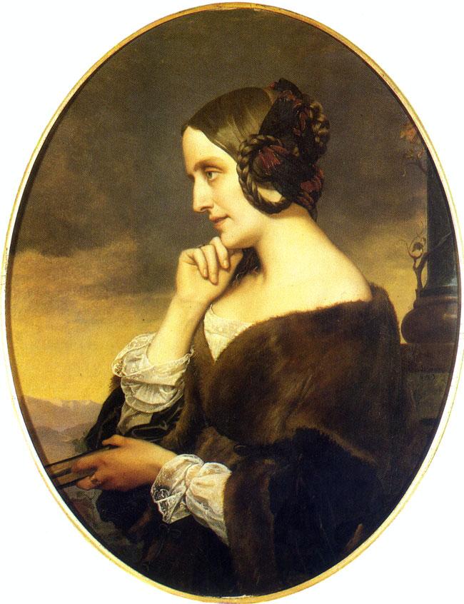 Portrait Marie d'Agoult par Henri Lehmann