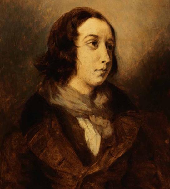 Portrait de George Sand par Eugène Delacroix