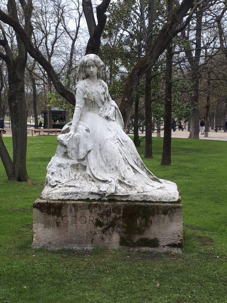 Sculpture George Sand_Jardin du Luxembourg