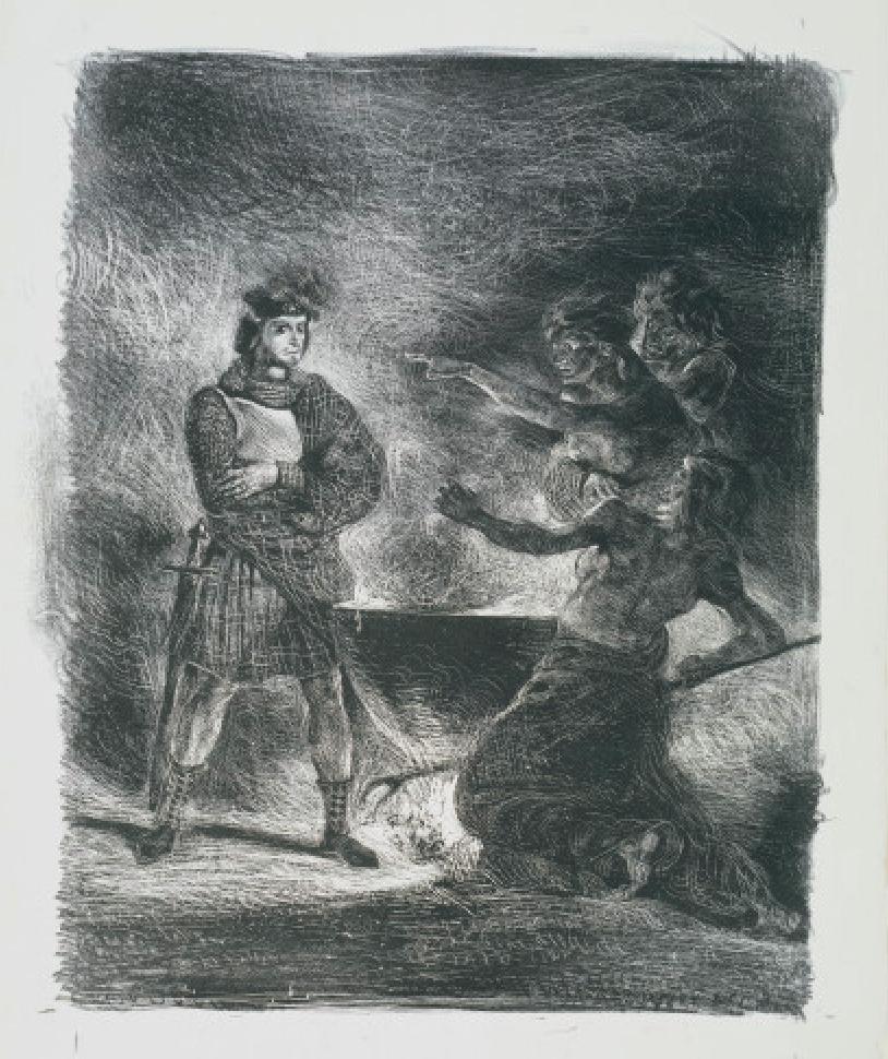 Gravure Hamlet et les sorcieres