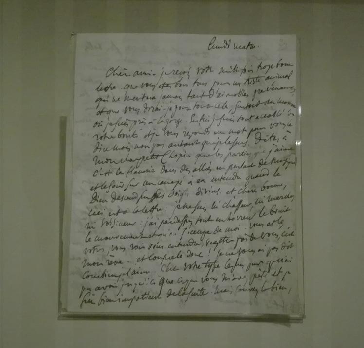 Lettre de Delacroix a Sand