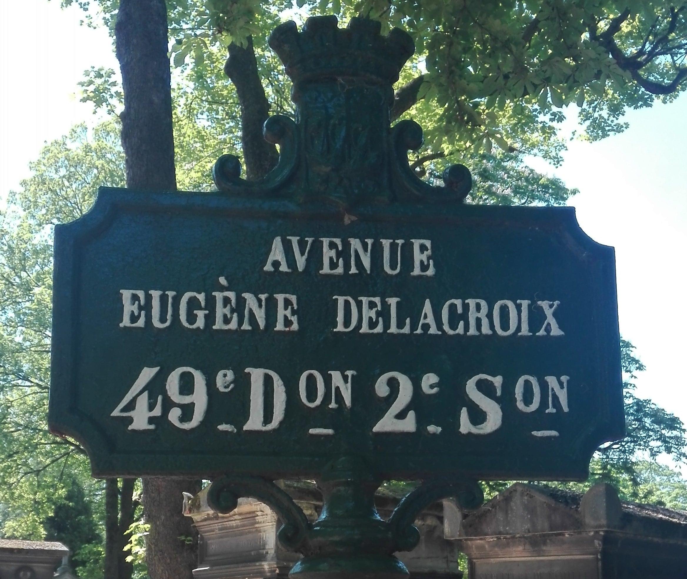 Avenue Eugene Delacroix_Cimetière du Pere Lachaise