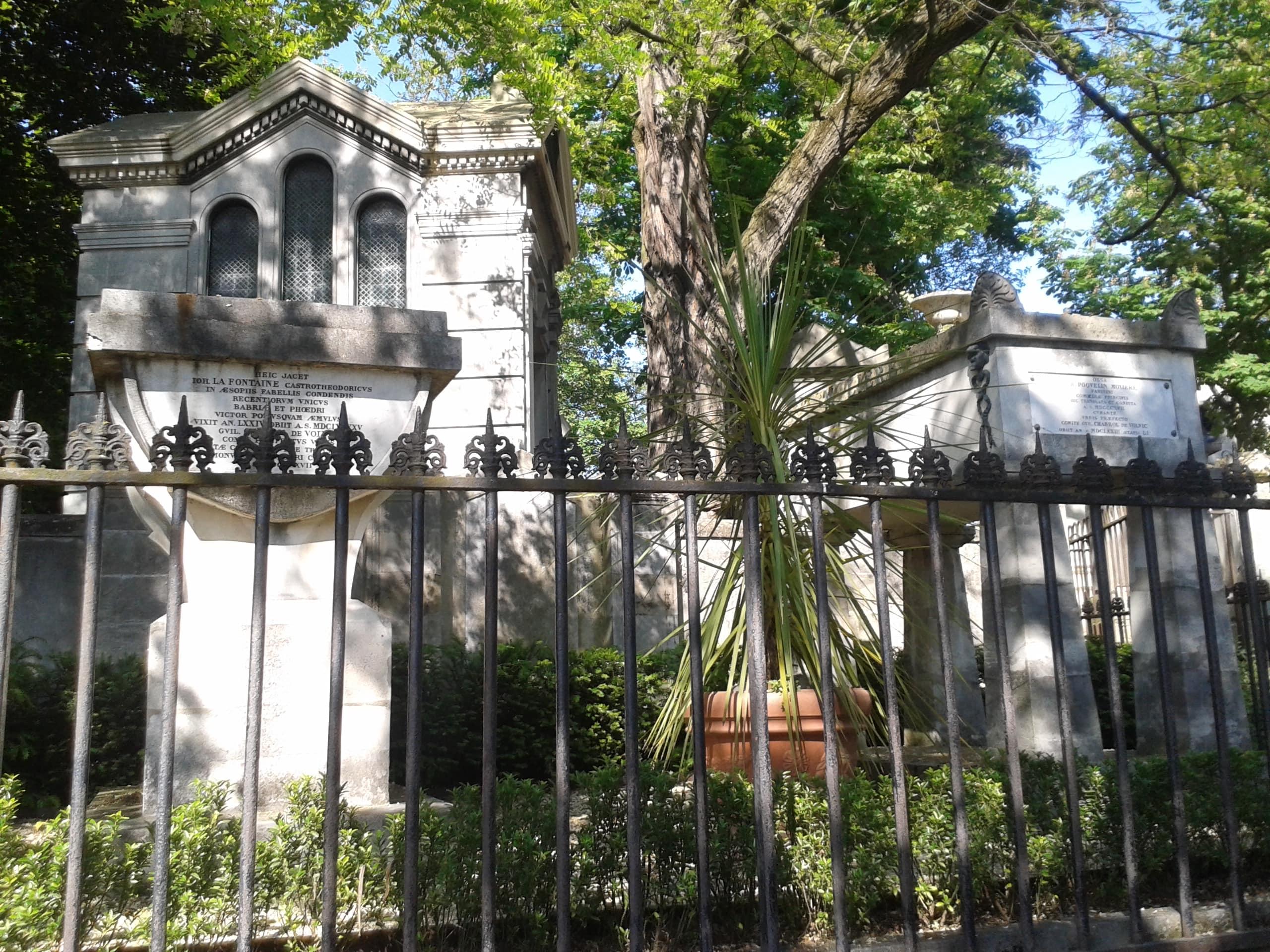 Tombes La Fontaine et Molière