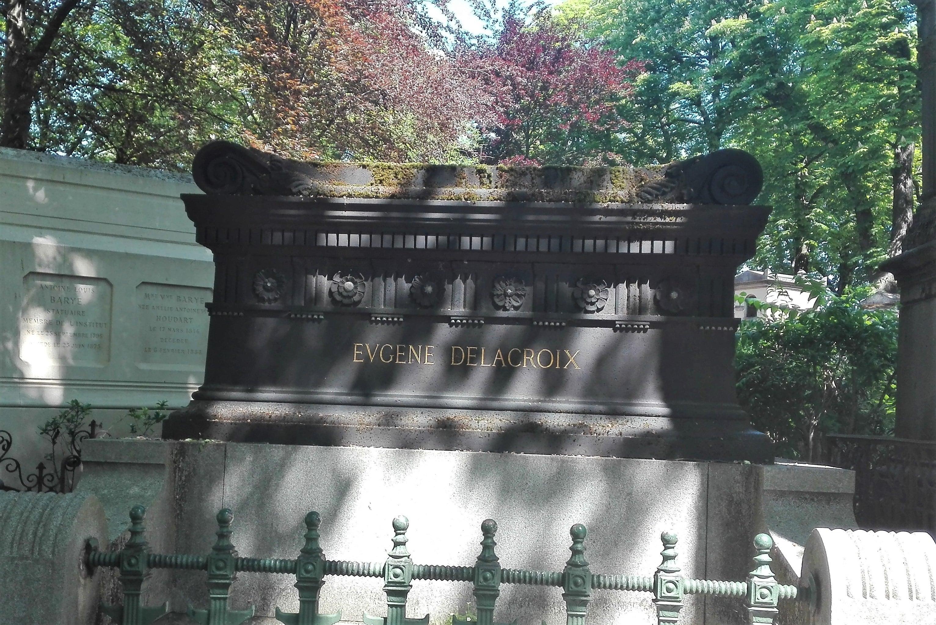 Tombe Eugène Delacroix_Cimetière du Père Lachaise