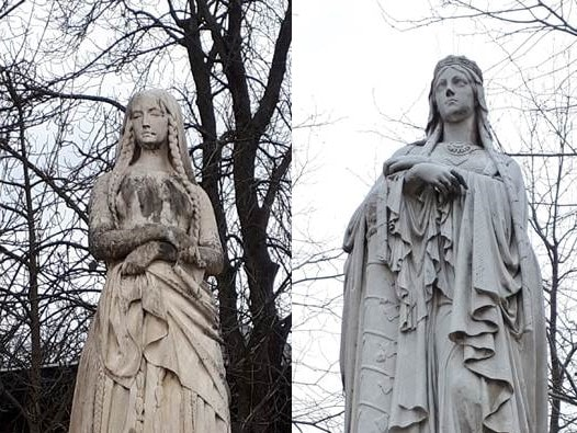 Statues Clothilde et Geneviève_Jardin du Luxembourg
