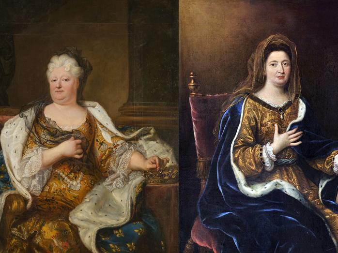 Portraits Madame de Maintenon et Madame de Palatine