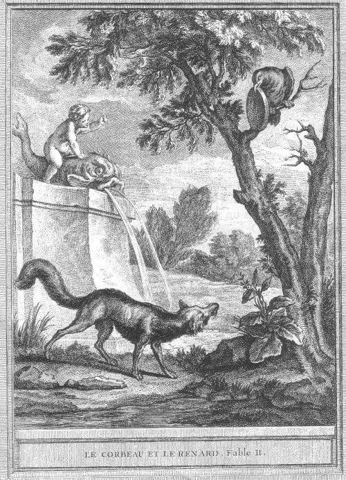 Gravure Le corbeau et le renard