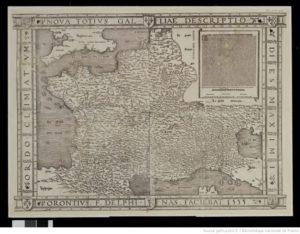 Oronce Fine. Carte de France