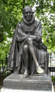 Montaigne statue en bronze