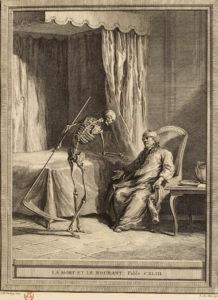 La mort et Le Mourant. Illustration J.-B. Oudry